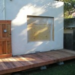EXTERIOR WALL TO FRENCH DOOR ROUGH