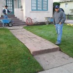 FRONT WALKWAY AND RE-SOD