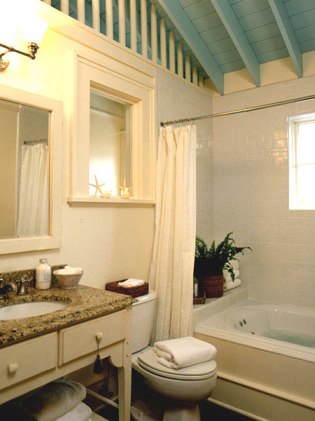 small bathroom high ceiling ideas